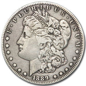 1889-CC Morgan Dollar - Very Fine-35